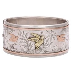 Spring Awakening:  A Victorian Cuff Bracelet | From a unique collection of vintage cuff bracelets at https://www.1stdibs.com/jewelry/bracelets/cuff-bracelets/