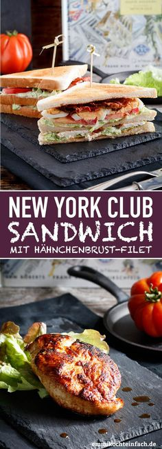 York Club Sandwich - so simple and tasty - easy to cook - NYork Club Sandwich – www.emmikochteinf … -New York Club Sandwich - so simple and tasty - easy to cook - NYork Club Sandwich – www.emmikochteinf … - Top 25 Sandwich Recipes New. Mexican Food Recipes, Vegetarian Recipes, Snack Recipes, Healthy Recipes, Ethnic Recipes, Snacks, Easy Recipes, Club Sandwich Recipes, Sandwiches For Lunch