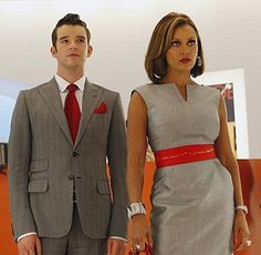 Vanessa William's dress in Ugly Betty is a good example of edgy classic. Classic because of the cut, colour and shape of the dress. Edgy because of the obi-sash and its punchy red colour as well as the zen-like neckline.