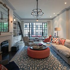 eclectic living room by BWArchitects (formerly Basil Walter Architects)