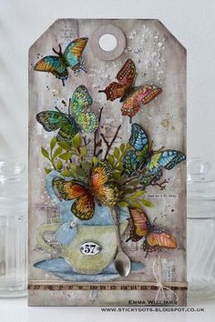 Tim Holtz/Emma Williams: Let It Fly Away... Created for the Simon Says Stamp Monday Challenge Blog