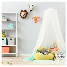 Discovery Den Room - Pillowfort™ at Target.  I LOVE the plush wall mounted animal heads!!
