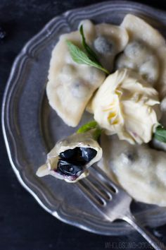 5 Ingredient Blueberry Dumplings (served with cream)...via Wholesome Cook...