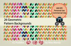 Geometric Backgrounds - First 10 Downloads are FREE! ~ Coupon: FIRSTTEN13 mandyfyhrie.com
