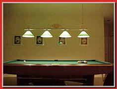 Pool Table Hanging Lights - You wish to consider price, brand, size, content when considering bumper pool tables, and what