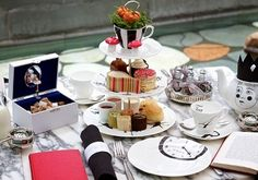"""Afternoon Tea at Sanderson Hotel - Oxford Street. In keeping with this surreal atmosphere, Sanderson have created a Mad Hatter's Afternoon Tea, and guests are invited to """"tumble down the rabbit hole"""" and enjoy the wonderful world of tea. Mad Hatters Afternoon Tea, Afternoon Tea London, Best Afternoon Tea, Mad Hatter Tea, Madd Hatter, Have A Nice Afternoon, Vegan Teas, Restaurants, Things To Do In London"""