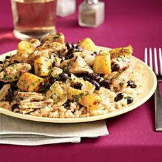 Rachael Ray pineapple jerk chicken and rice. love me some jerk chicken! Jerk Recipe, Jerk Chicken And Rice, Jerk Marinade, Boneless Chicken Breast, Food For Thought, Healthy Eating, Healthy Food, Healthy Dishes, Eating Clean