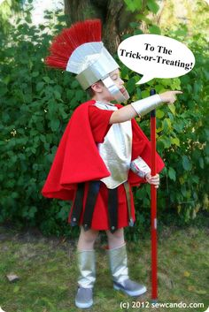 Little Kid Roman Soldier Costume at Sew Can Do