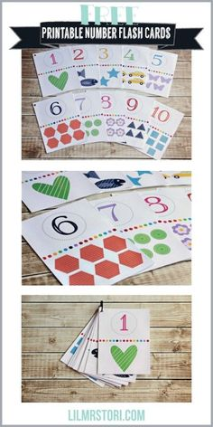 Free Printable Number Flash Cards...great for matching!