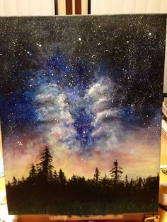 Original acrylic Galaxy painting -painted by dfletcher89