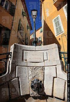 Place du Conseil, Villefranche sur Mer, Costa Azul, Costa Azul, Provenza, Francia, Europa