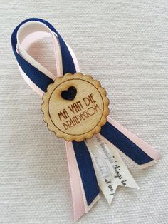 Navy, cream, blush and silver badge with a wooden template Wedding Badges, Laser Machine, Red Wedding, Wedding Stuff, Tiffany Blue, Wedding Supplies, Special Day, Cake Decorating, Wedding Inspiration