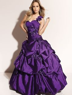 Image detail for -... Taffeta Sweetheart Neckline Ball Gown Prom Dress with Beaded Flower