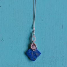 Serpens Infinitas Kundalini Serpent Sterling Silver Lapis Lazuli Herkimar Diamond Pendant by youareinfinite on Etsy