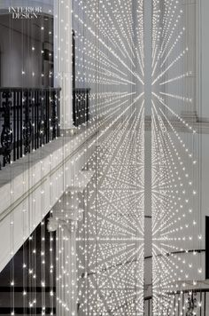"interiordesignmagazine: ""Cooper Joseph Studio, Rush Design, and Studio 1Thousand encourage visitors to take the stairs at the Museum of the City of New York via Starlight, 11,000 glittering LEDs mounted on double-sided circuit boards. Photography by..."