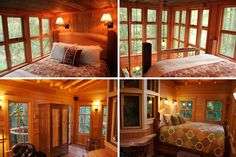 Would love to stay here some day :) Whimsical Treehouse Point Getaway in Issaquah, WA Tree House Plans, House Floor Plans, Pool Houses, Tree Houses, Building A Treehouse, Tiny Cabins, Unique Hotels, Tiny House Living, Construction