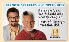 Check Out InventHelp's INPEX 2013 Keynote Speakers From History Channel's Invention USA! Come see us June 19th @ David L. Lawrence Convention Center in Pittsburgh, PA: http://www.inpex.com/VonWolfsheild-Ziegler-Bio.aspx