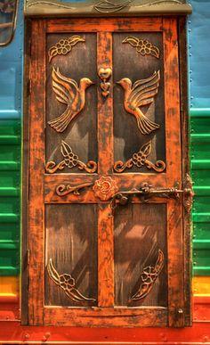 Carved Wooden Door, Bridgetown, Australia