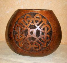 Celtic Carved Gourd