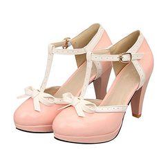 Carol Shoes Fashion T Strap Bows Womens Platform High Hee... https://www.amazon.com/dp/B00JC4AR2G/ref=cm_sw_r_pi_dp_x_aidbyb2B7DR0Y
