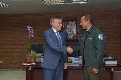 Embajador de EEUU visita director de AMET y coordinan acciones conjuntas para mejorar seguridad vial