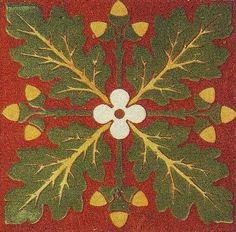 Ceramic tile design by A W N Pugin, produced in the 1840s.