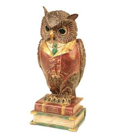 Loving this Owl & Books Statue on #zulily! #zulilyfinds