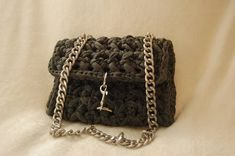 Luxurious handmade dark gray shoulder bag