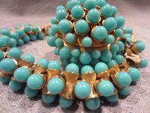 Vintage Faux Turquoise Trifari Bracelet, 1950..