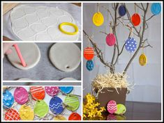 Collection of easy and creative Easter crafts help you and your children on their Easter preschool craft project. Make Easter bunny using different types of material which is easily available in your home. Easter Art, Easter Crafts For Kids, Toddler Crafts, Easter Eggs, Crafts For Kids To Make, Easy Crafts, Arts And Crafts, Salt Dough, Simple Art