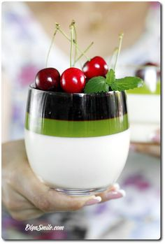 Jelly Recipes, Sweets Recipes, Cake Recipes, Healthy Recipes, Panna Cotta, Fancy Desserts, Cake Pops, Catering, Food And Drink