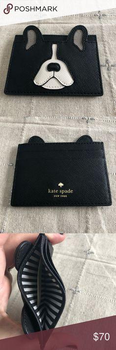 Kate Spade French Bulldog card wallet Kate Spade French Bulldog card wallet kate spade Bags Wallets