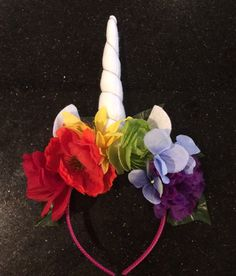 LGBTQ LGBT rainbow gay pride Unicorn horn headband flower crown unicorn party unicorn birthday unicorn cosplay