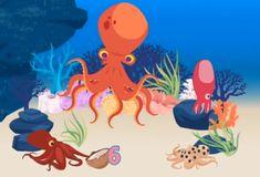 liedje (terug)tellen 1-8 met octopus, met filmpje erbij