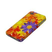 Cute & girly Bright daisy Flowers Iphone 4 Case by _Angelique_
