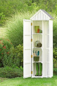 armoire de jardin en bois wissant forest style naturel