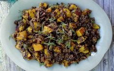 be healthy-page: Beluga Lentils With Butternut Squash, Mushrooms, a...