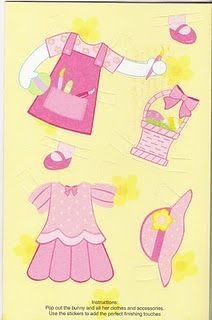 Easter card PD - outfits