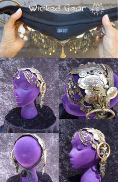 Professional Headdress for belly dance stage or film by WickedGearTribal $350 See it on a model wickedgeartribal.etsy.com