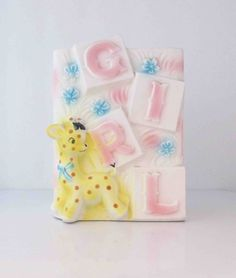 Pastel Giraffe Baby Girl Planter Relpo Japan 5654 by KanariKouture