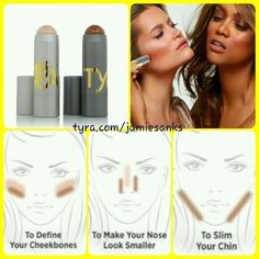 Sculpt in a stick and Light in a stick by Tyra Beauty.  www.tyra.com/jamiesanks