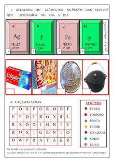 Spaço Educar Periodic Table, Phonological Awareness Activities, Special Education Activities, Kids Learning Activities, Chemistry Periodic Table, Teaching Chemistry, Science, Art, Periodic Table Chart
