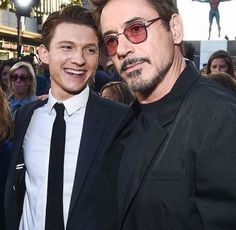 Tom Holland & Robert Downey Jr