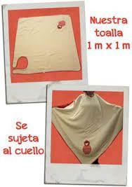 Картинки по запросу como hacer toalla delantal para bebe