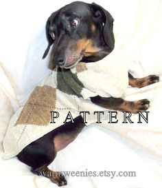 I sense that some of my old sweaters will be on the wieners soon!!  Dachshund Sewing Pattern Sweater and Snood for handmade pets clothing. $10.50, via Etsy.