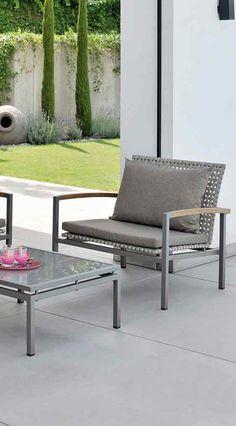 Moderne Gartenstühle freischwingersessel greta im kordel look moderne