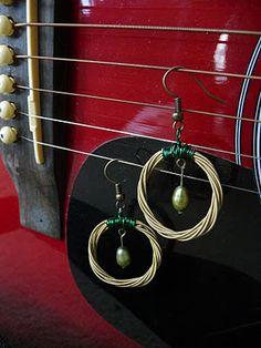 Guitar String Earrings