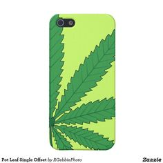 Pot Leaf Single Offset iPhone SE/5/5s Case $37.95 Nine point Marijuana leaves. Cannabis is recognized legally in several US states, mostly for medical purposes, but some are recognizing recreational use as well. Pot smokers and medical patients, Cannabis Advocates and 420 friendly folk love our gift line! Visit our store for more of our MMJ and 420 gear! #Zazzle #Marijuana #Cannabis