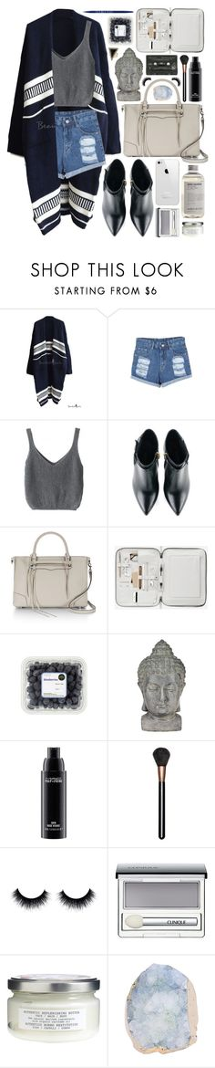 """""""Untitled #1165"""" by noviii ❤ liked on Polyvore featuring Kim Kwang, Rebecca Minkoff, Universal Lighting and Decor, MAC Cosmetics, Clinique, Davines, House of Harlow 1960, beautifulhalo and bhalo"""
