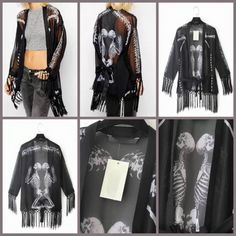 Detail:EQ 185 Skull Fringed Cardigan (size S,M,L)Excellent QualityFabric Chiffon Polyester, Not Elastic Size S.M.L in cmBust (unlimited) Length (70,71,72)  sebelum membeli tanyakan ketersediaan stok terlebih dahulu infowa 081237304540 bb pin 551fd9be Happy shopping
